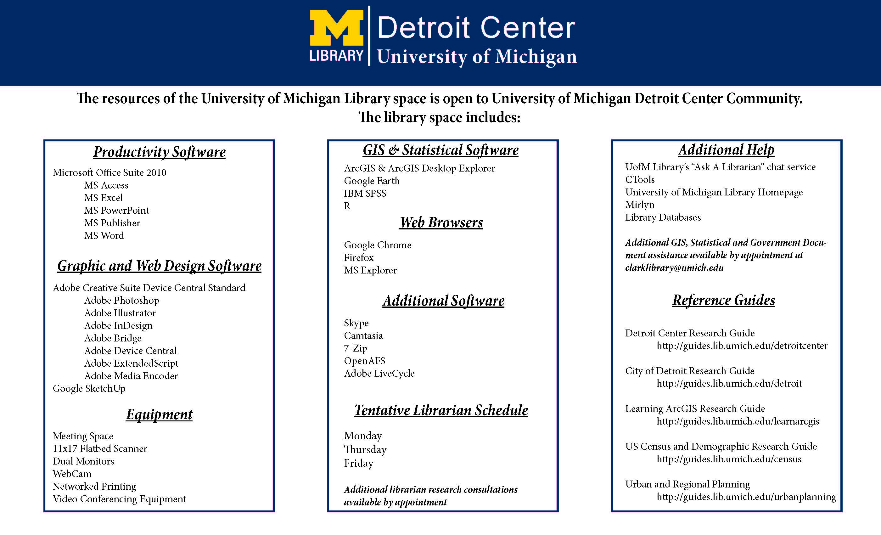 Getting Started - Detroit Center - Research Guides at University ...