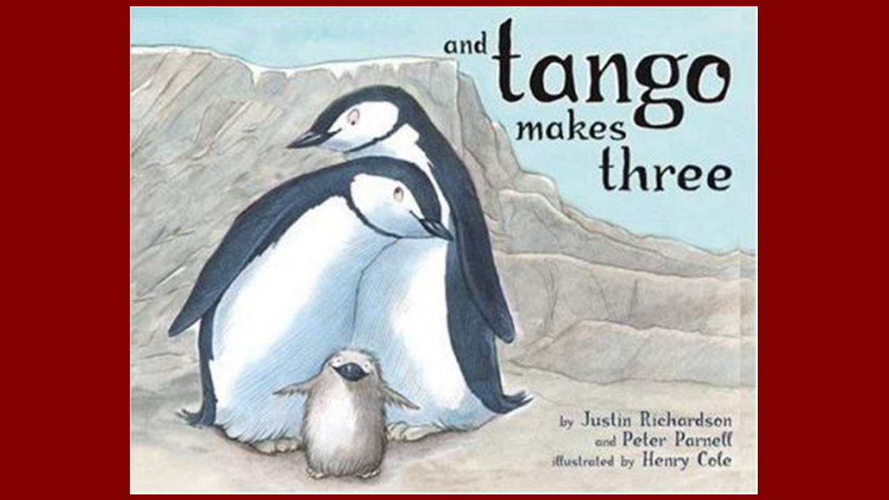 home finding children s books in the occc library libguides at book cover for and tango makes three