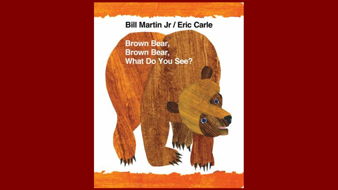 home finding children s books in the occc library libguides at book cover for brown bear brown bear what do you see