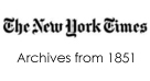 New York Times archives from 1851