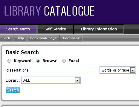 Search Dissertations Online