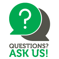 Ask Us Logo (in green and dark gray)