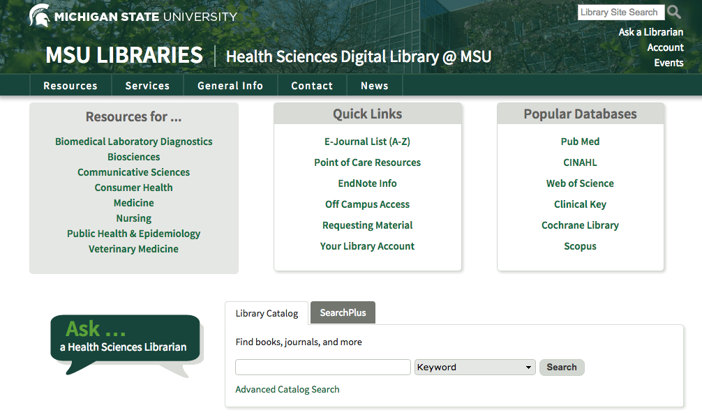 Health Science Digital Library Home Page