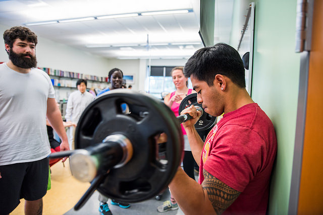 Assessing muscular strength at the HSU Human Performance Lab