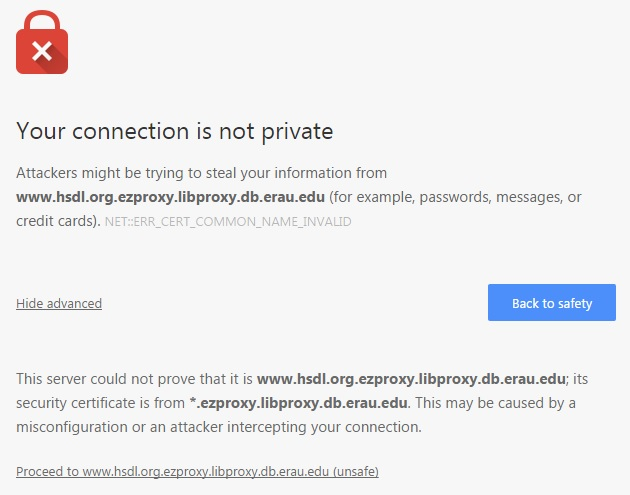 Privacy Error (Chrome)