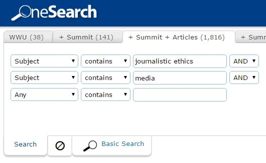 ethics search in OneSearch