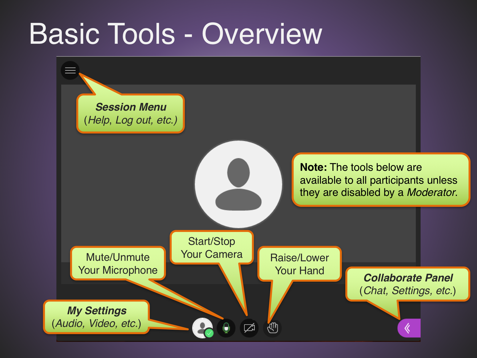 Basic Tools - Overview
