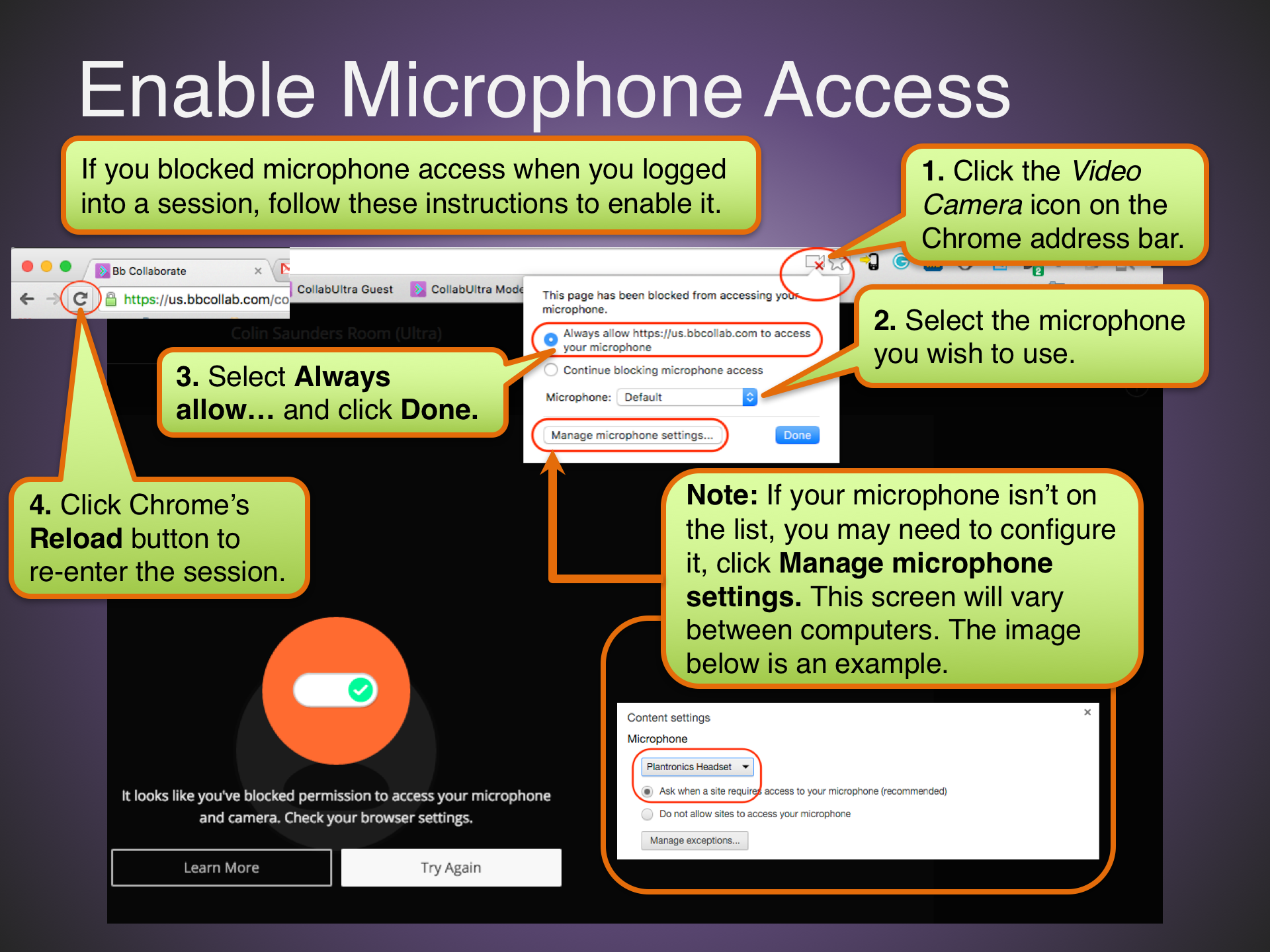 Enable Microphone Access