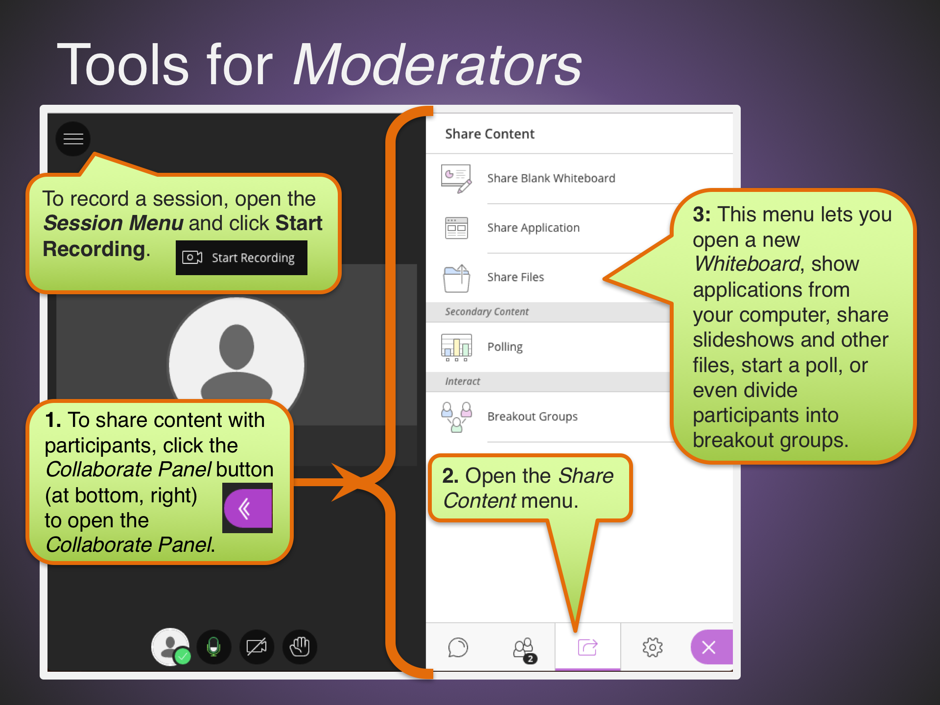 Tools for Moderators
