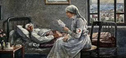 image of nurse reading courtesy of mhs.group.shef.ac.uk