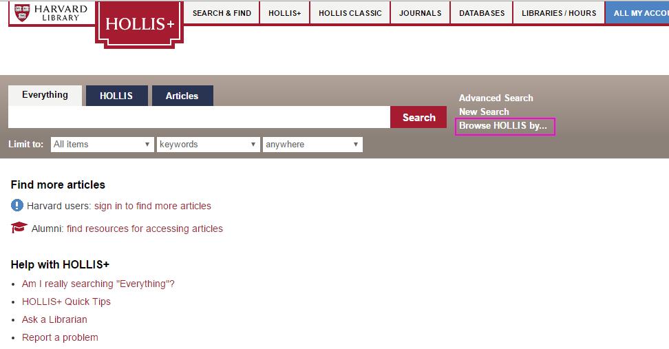 harvard thesis database