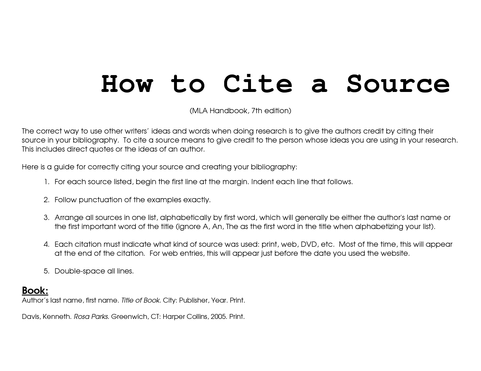 article summary and citing To allow your reader to track down the sources you used by citing them accurately in your paper by  article, chapter, web site  overview on citing sources and.