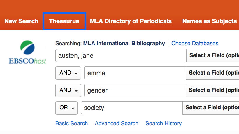 Assigned thesaurus