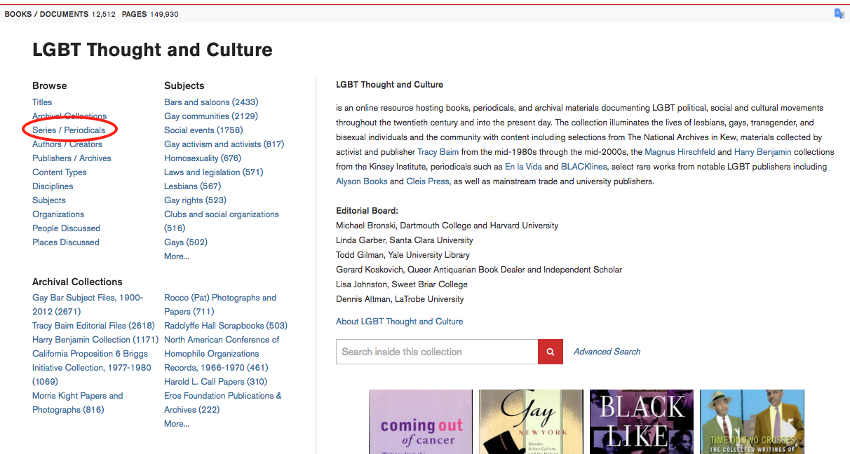 LGBT Thought and Culture Page