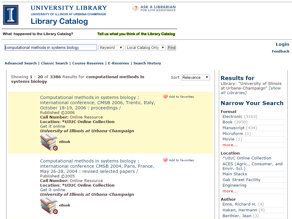 library catalog search for books