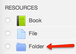 Next, create a folder in the Moodle course section where you want students to access the papers.