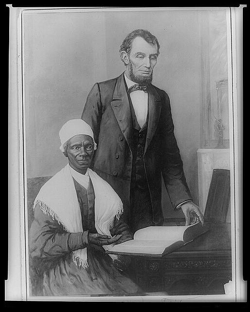 Abraham Lincoln and Sojourner Truth