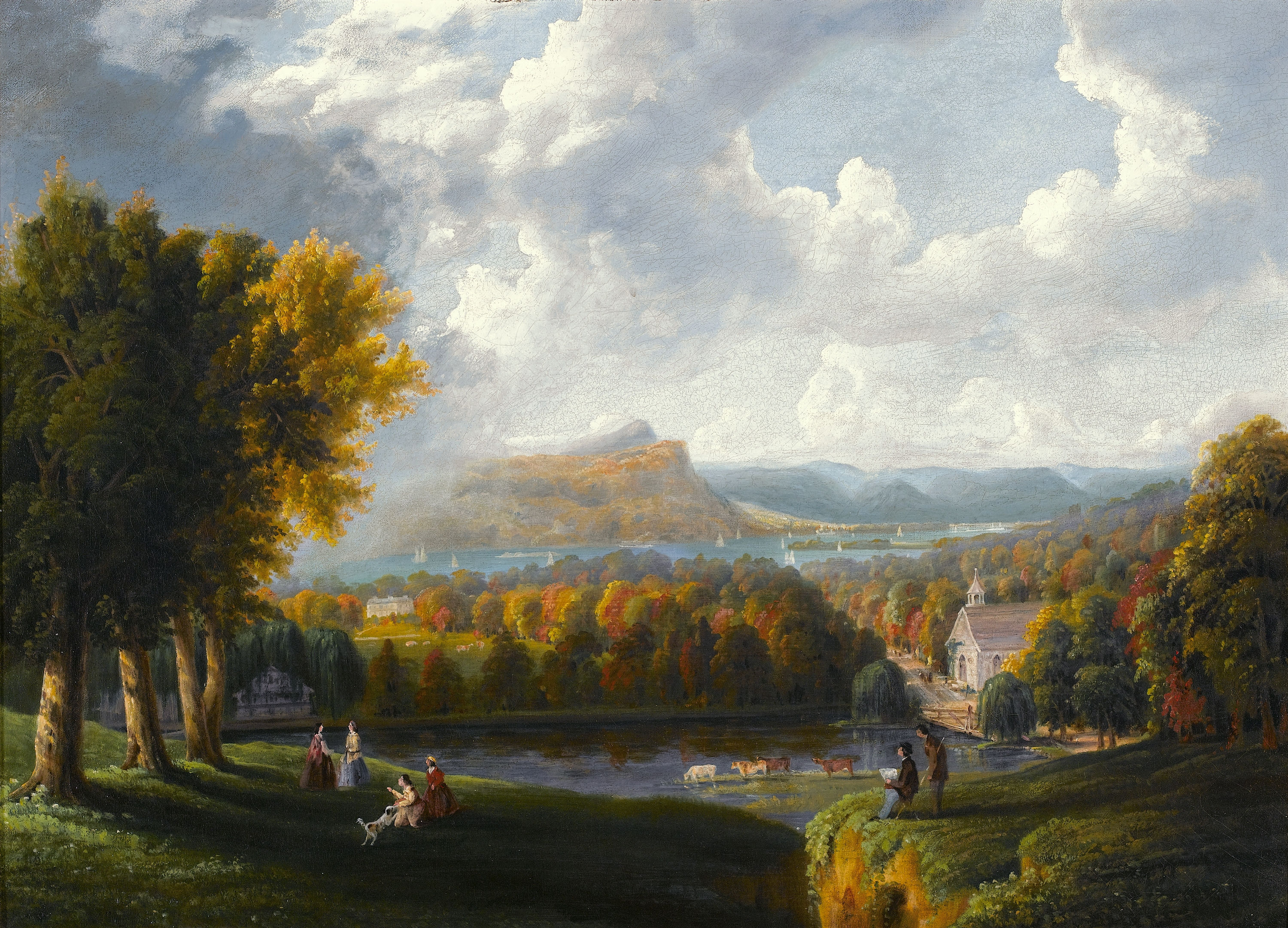 View of the Hudson River, by Robert Havell, 1866