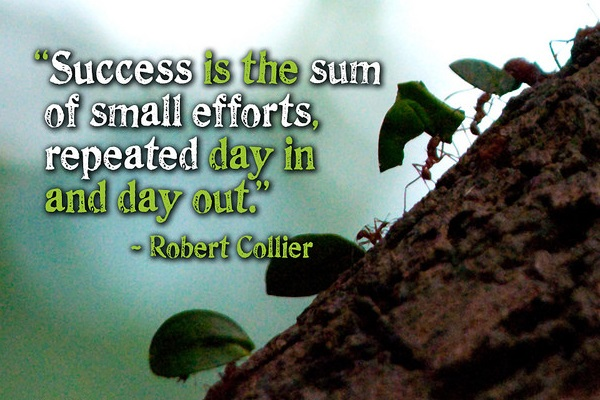 Success is the sum of small efforts repeated day in and day out - Robert Collier
