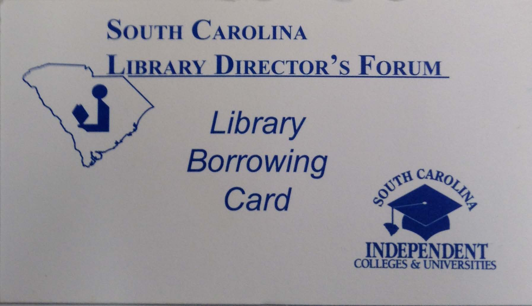 image of South Carolina borrower's card