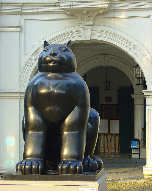 Sculpture - Botero's Cat