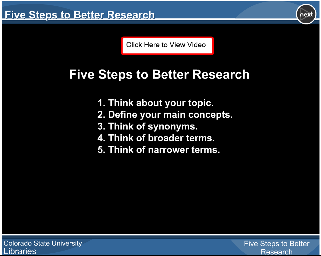 Five Steps to Better Research Tutorial