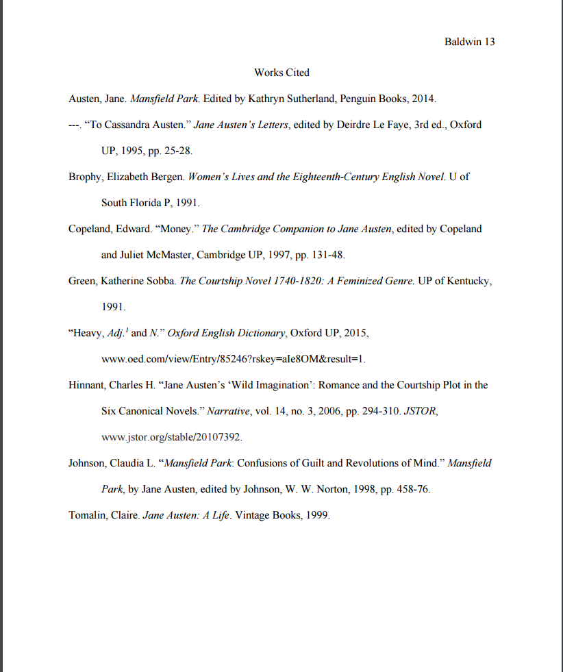 Mla Works Cited Template | Mla Style 8th Ed Format Cite Research Guides At Modesto