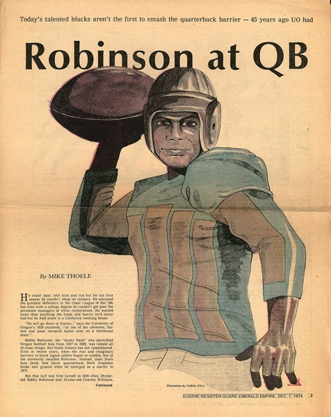 Bobby Robinson | One of the first African American atheltes at the University of Oregon | 1926
