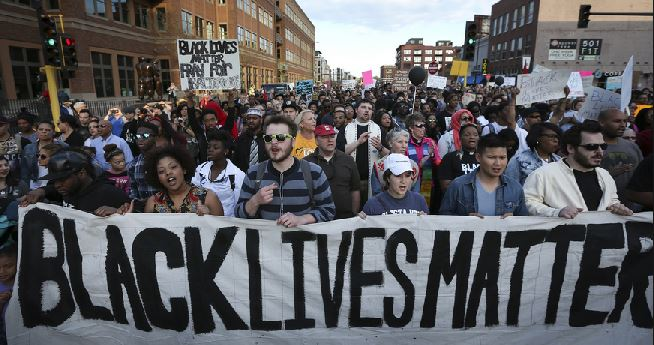 """Black Lives Matter"" march in Minnesota"