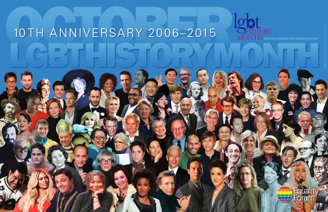 Poster for 10th anniversary of LGBT history