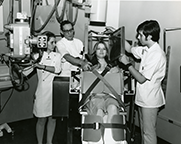 Medical technology students take an x-ray, April 14, 1971.