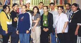 Jovenes Latinos Pro Salud, a group of Latino youths from Mission Hill and Boston communities who interned at Beth Israel Deaconess Hospital, 1999. from the Inquilinos Boricuas en Acción collection.