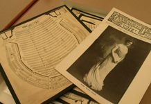 Musical scores and program from the Boston Opera House collection.