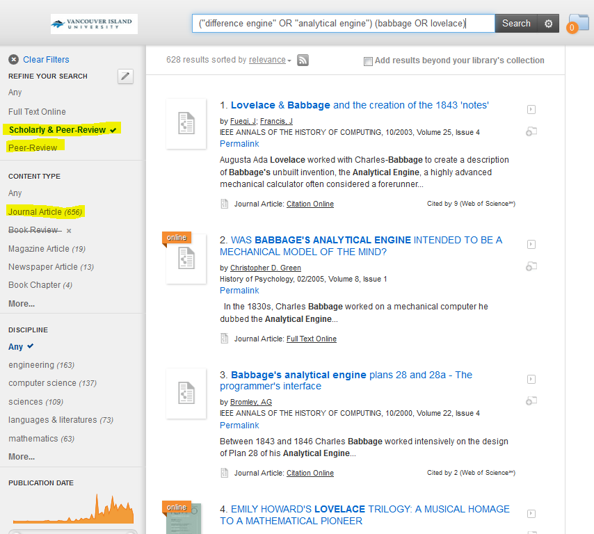 Using Librarysearch To Find Scholarly Articles Fnfs 105 Elements