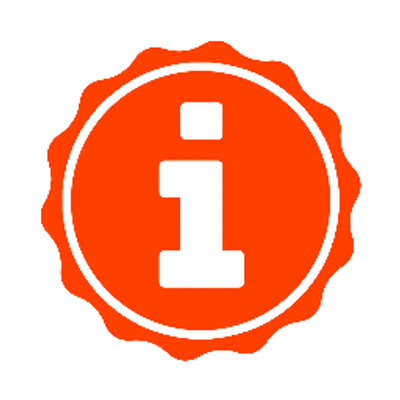 Impactstory Logo, a lowercase i in an orange circle