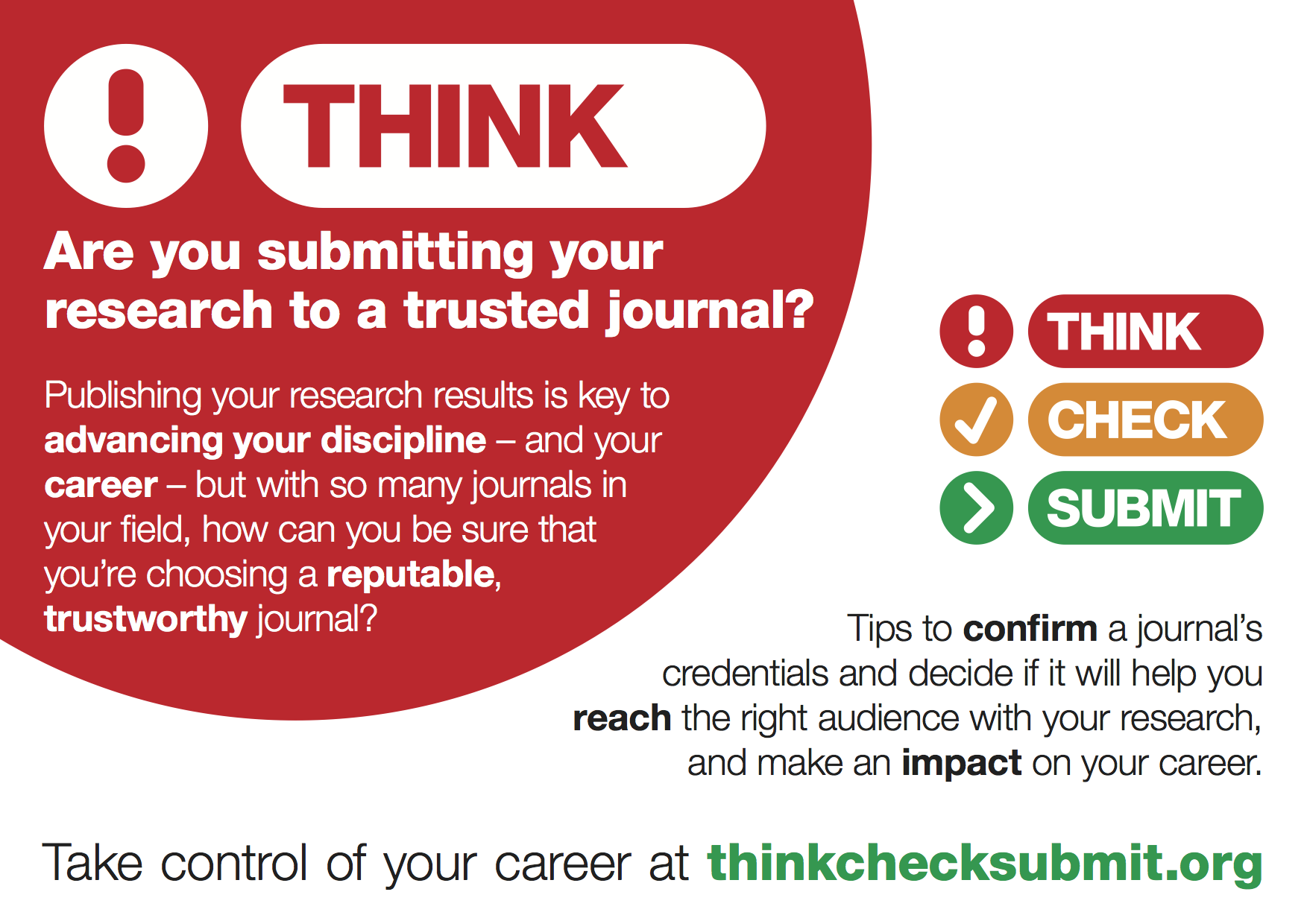 thinkchecksubmit.org poster and button