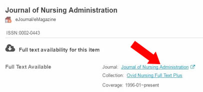 Where can you find full text journal articles online?