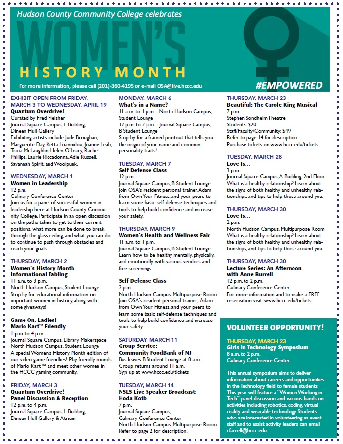 Women's History Month 2017 Flyer