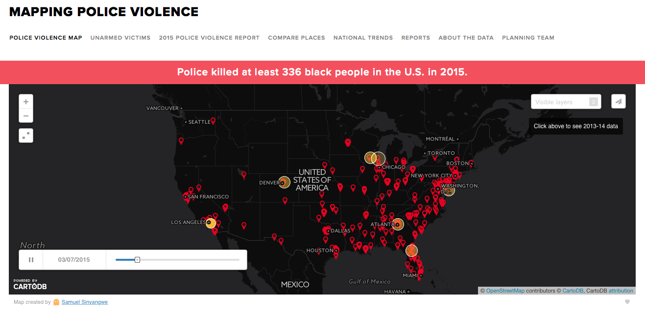 Mapping Police Violence landing page