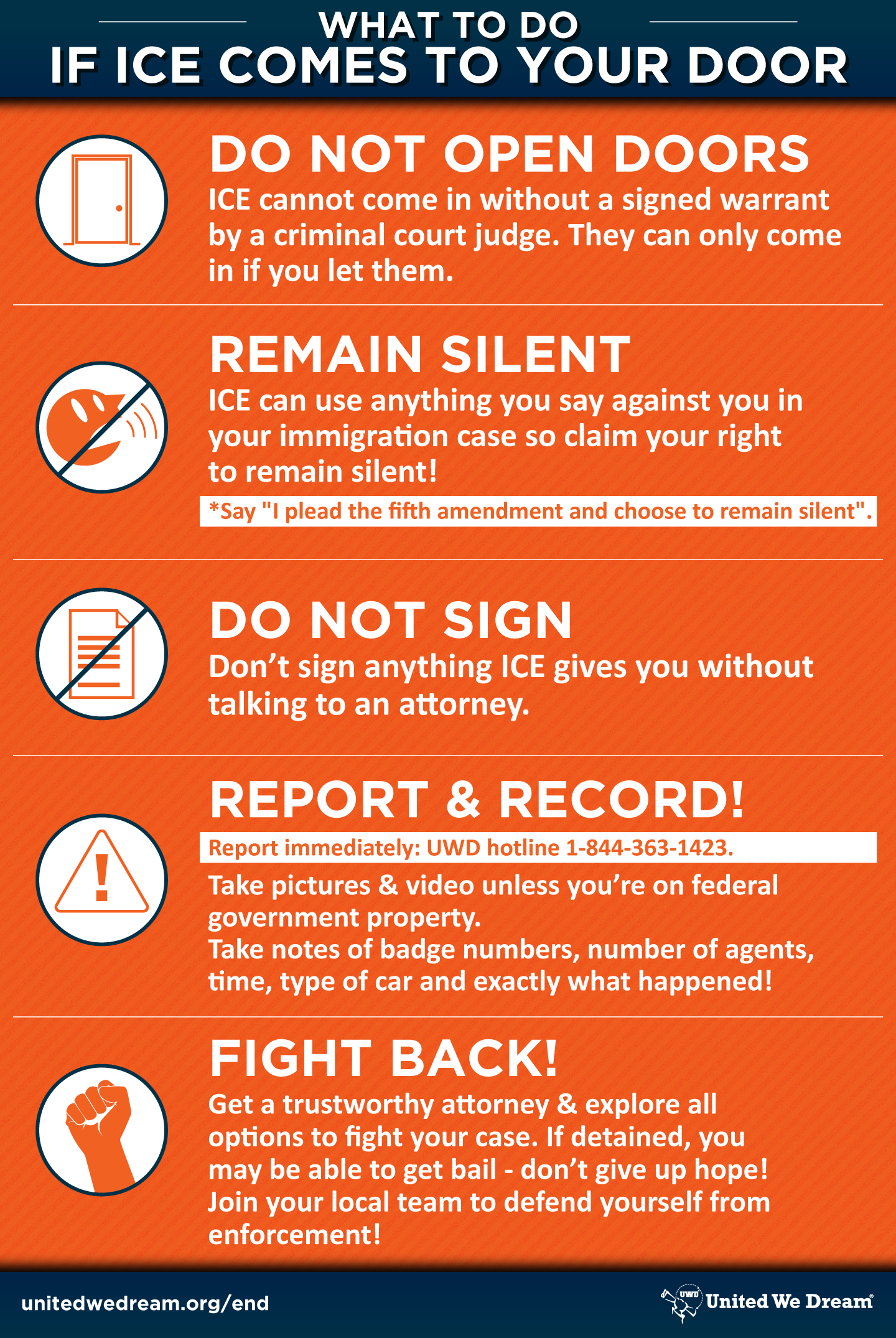 What to do if ICE comes to your door poster