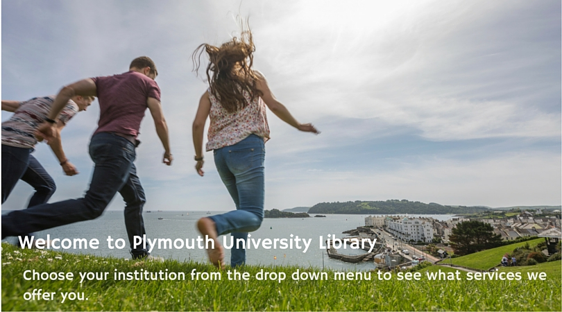 Photo of students on Plymouth Hoe.