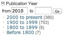 Limit by Publication Year