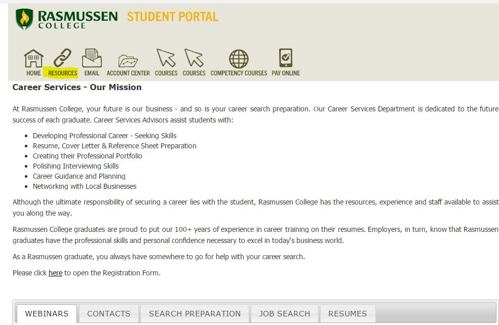 career services orientation guide guides at rasmussen