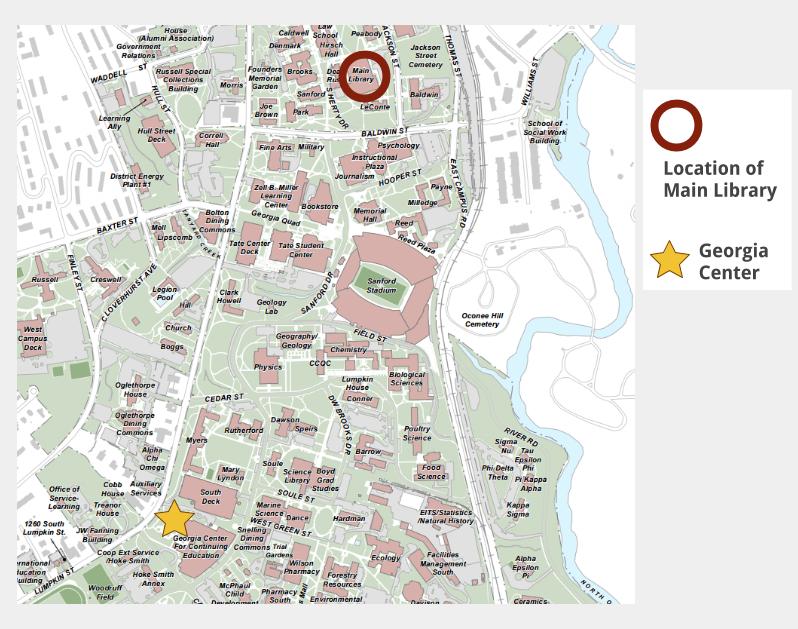 Uga North Campus Map | Campus Map