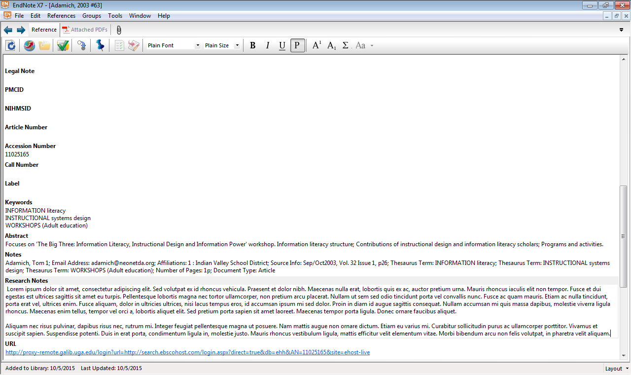 Type In Your Notes The Research Notes Field Will Hold Several Pages Worth  Of Singlespaced Text
