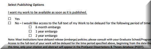 thesis embargo letter Restricting access to your thesis the thesis embargo may cover the the request should include supporting evidence such as a letter from their.