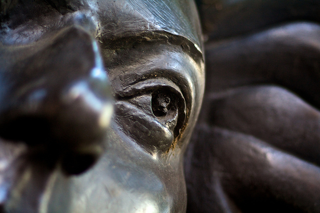 Close up photograph of Purcell sculpture