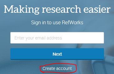 Create account link