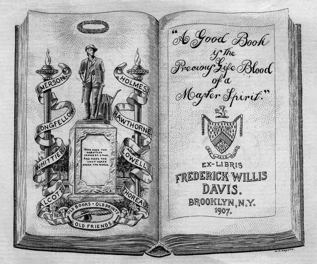 Bookplate of Frederick Willis Davis