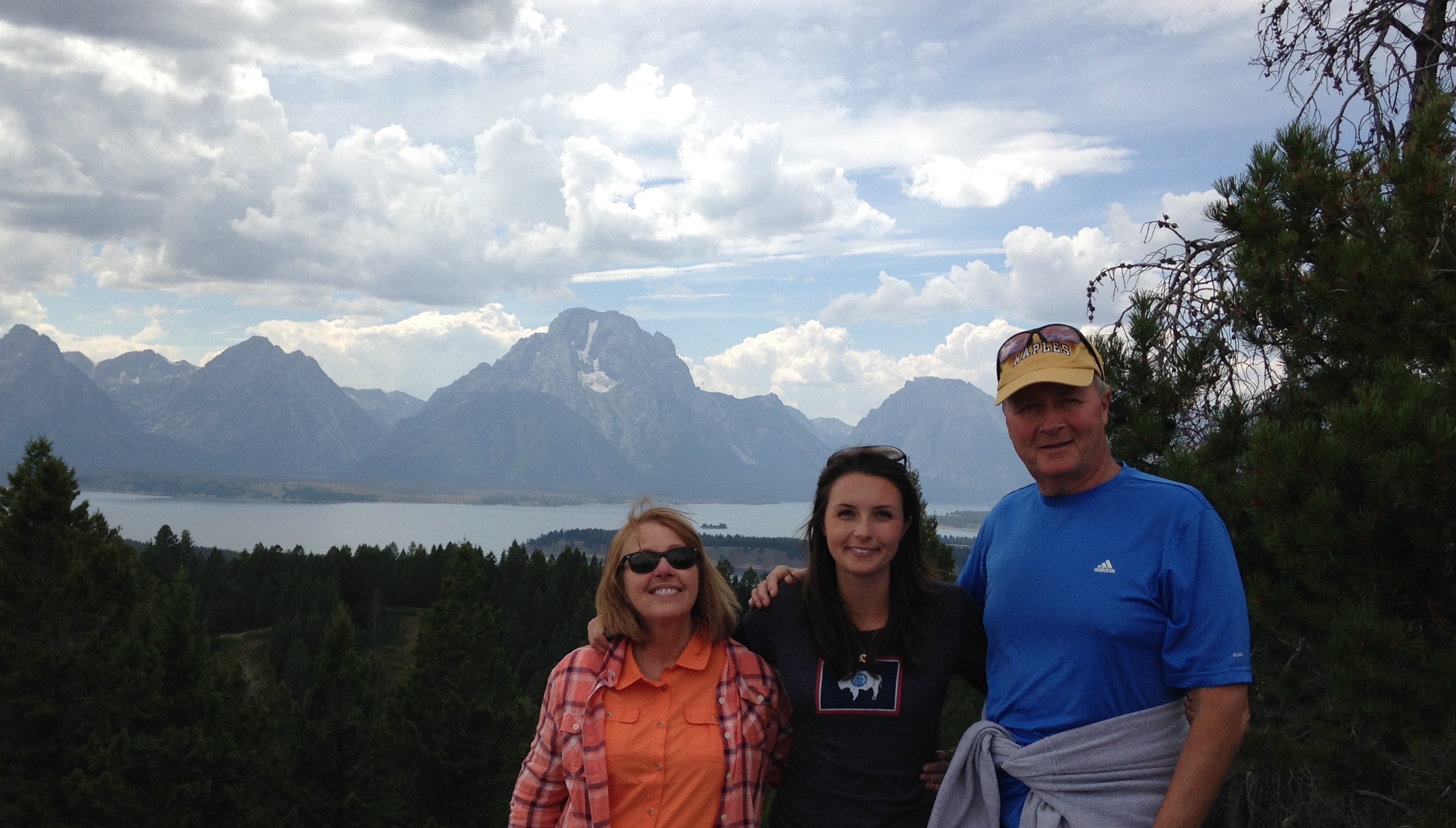 Me, my momm and my dad at The Grand Teton National Park